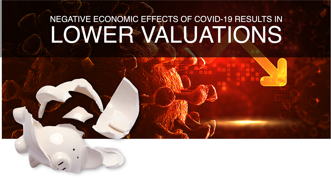 Article banner for Negative Economic Effects of COVID-19 Results in Lower Valuations